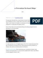 Basics of Fire Prevention on Board Ships