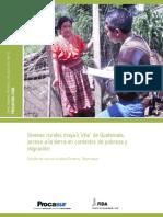 Jóvenes rurales maya k'iche' de Guatemala, acceso a la tierra en contextos de pobreza y migración: