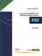 DEA 18 - Inventário Energético de Resíduos Sólidos Urbanos(1)