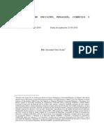 Relaciones Entre Educación Pedagogía Curriculo y Didáctica
