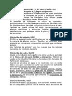COMPUESTOS INORGÁNICOS DE USO DOMÉSTICO