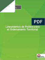 Lineamientos de Política Para El Ordenamiento Territorial