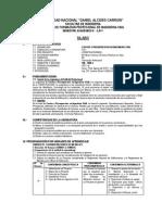 Syllabus de Costos y Presupuestos II-2011