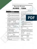 AIIMS Paper 1994