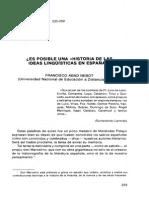 Abad Nebot, Francisco - Es Posible Una Historia de Las Ideas Lingüísticas en España
