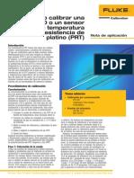 Cómo calibrar una RTD o un sensor de temperatura con resistencia de platino (PRT)