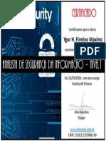 Certificado Analista de Segurança Da Informação