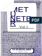 Metu Neter Volume 1 by Ra Un Amen Nefer