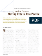 Moving Pets to Asia - PetRelocation Article for Mobility Magazine by Rachel Farris