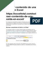Extraer Contenido de Una Celda en Excel