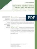 Eficacia Da Vacina Profilatica Contra o HPV