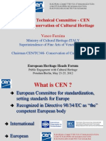 CEN - Standards in Conservation of Cultural Heritage
