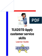 TLII207D - Apply Customer Service Skills - Learner Guide