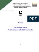 SubsecretaríadeEducaciónBásica DirecciónGeneraldeMaterialesEducativos DireccióndeBibliotecasyPromocióndelaLectura ProgramaNacionaldeLectura