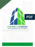 PORTAFOLIO DE SERVICIOS CONSTRUINSPEC PEREIRA - RISARALDA - COLOMBIA