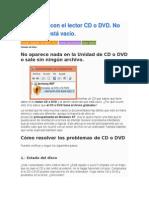 Problemas Con El Lector CD o DVD