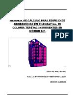 Memoria de Cálculo Para Edificio de Condominios en Chancay No. 19