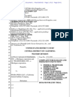 Little Caesar v. Piara Pizza trademark complaint.pdf