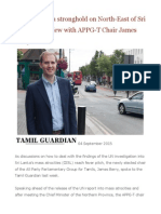 Colombo Has a Stronghold on North-East of Sri Lanka Interview With APPG-T Chair James Berry