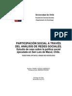 Participacion Social a Traves Del Analisis de Redes Sociales