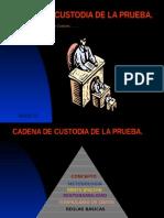 e) Cadena de Custodia de La Prueba[1].