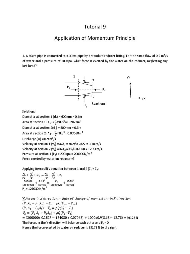 9 Momentum Principle Tutorial Solution Torque Angular Momentum