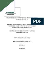 Practica n 5 Determina El Indice de Refraccion en Aceites Esenciales y Productos Aromaticos de Acuerdo a La Norma Nmx-k-129-1976