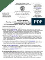 ECWANDC PLUB Committee Special Meeting Agenda - September 8, 2015