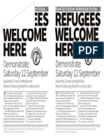 Refugees Welcome Here LONDON A5