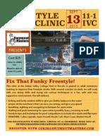 Swymnuts Freestyle Clinic Flyer 091315