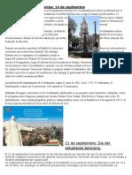 Aniversario de Cochabamba, dia del estudiant, aniversario a santacruz 24 de septiembre.docx