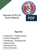 Glenview AYSO U-5 Parent Presentation 2015