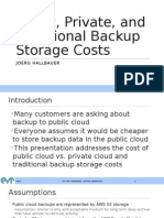 Cloud vs Other Backup Storage Costs