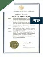 parent engagement month 2014 proclamation