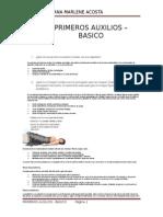 PRIMEROS AUXILIOS - BASICO