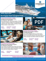 Would you like to be part of the Inaugural visit by the amazing Norwegian Star ship?