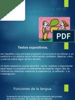 Funciones de La Lengua en El Texto Expositivo