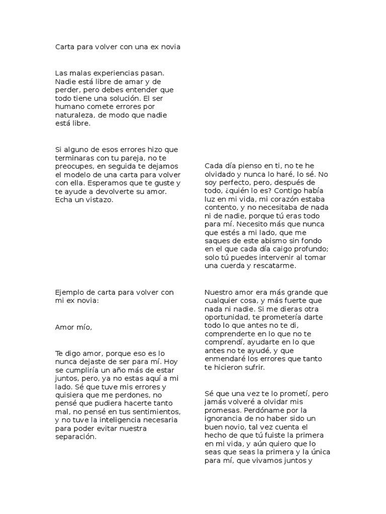 Carta De Amor Mi Ex Novio Carta De Amor Mas Bonita Carta De Amor Mas ...