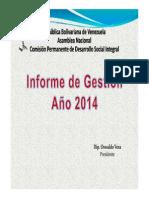 Comision Permanente de Desarrollo Social Congreso Gestion 2014