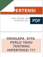 Penyuluhan Prolanis 29 Agustus 2015