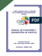 2 Manual de Funciones y Descripcion de Puestos CONADI