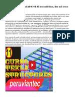 Video Tutorial AutoCAD Civil 3D dos mil doce, dos mil trece Y 2014 Avanzado