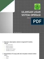 Ulangan Lisan Sistem Operasi