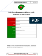 257002289 SP 2069 Specification for Pressure Vessels 1 Doc PDF