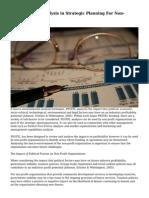 Using PESTEL Analysis in Strategic Planning For Non-Profits