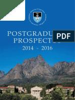 Pgprospectus2014 2016 Cape Town University