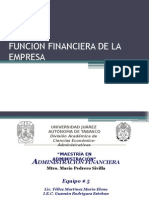 Funcion Financiera de La Empresa