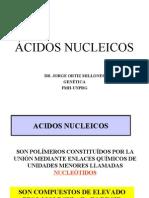 ÁCIDOS NUCLEICOS DR. JORGE ORTIZ MILLONES