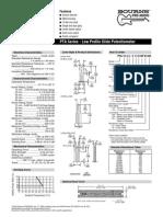 Bourn s Pta Slide Potentiometer