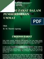 Urgensi Zakat Dalam Pemberdayaan Ummat